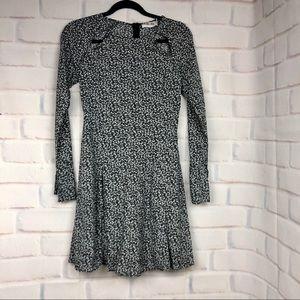 Line & Dot black and white floral mini dress